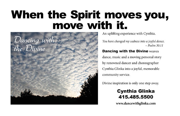 Dancing with the Divine, Dancing to be closer to Divinity with Cynthia Glinka